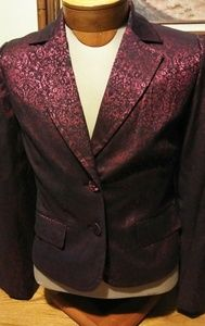 Apt 9 Red and Black Brocade Blazer Size 10